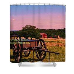 Civil War Caisson At Gettysburg Shower Curtain by Eric  Schiabor