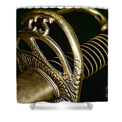Civil War - Confederate Officer Sword - Weapon Shower Curtain by Paul Ward