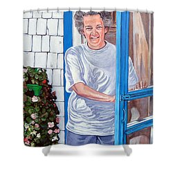 Claire Campbell Lewis Shower Curtain by Tom Roderick