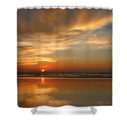 Clam Digging At Sunset - 4 Shower Curtain