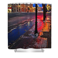 Clare Michigan At Christmas 10 Shower Curtain by Terri Gostola