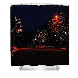 Clare Michigan At Christmas 12 Shower Curtain