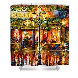Clarens Misty Cafe Shower Curtain by Leonid Afremov