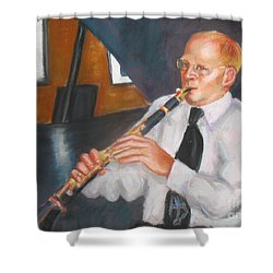 Clarinet At Palm Court Shower Curtain