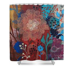 Shower Curtain featuring the painting Clarity by Robin Maria Pedrero
