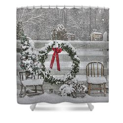 Clarks Valley Christmas 3 Shower Curtain by Lori Deiter