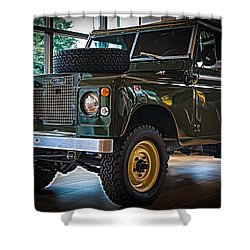 Classic 1969 Land Rover Series IIa Shower Curtain