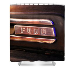 Classic Americana Retro Ford Truck Logo Shower Curtain