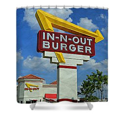 Classic Cali Burger 1.1 Shower Curtain