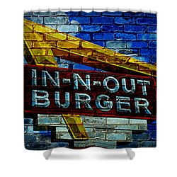 Classic Cali Burger 2.4 Shower Curtain by Stephen Stookey