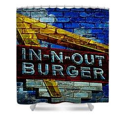 Classic Cali Burger 2.4 Shower Curtain