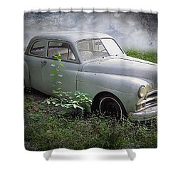 Classic Car Shower Curtain by Brian Wallace