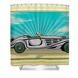 Classic Cars 02 Shower Curtain