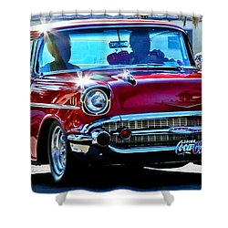 Classic Chevrolet Shower Curtain by Tap On Photo