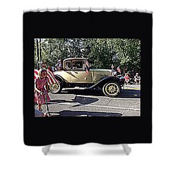 Classic Children's Parade Classic Car East Millcreek Utah 1 Shower Curtain by Richard W Linford