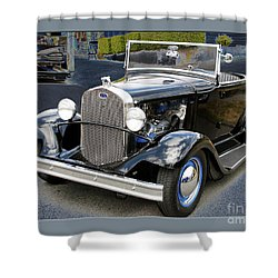 Shower Curtain featuring the photograph Classic Ford by Victoria Harrington