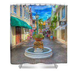 Classic Hdr Fountain Shower Curtain
