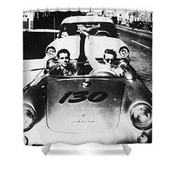 Classic James Dean Porsche Photo Shower Curtain by Georgia Fowler