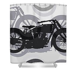 Classic Motorcycle  Shower Curtain by Daniel Hagerman