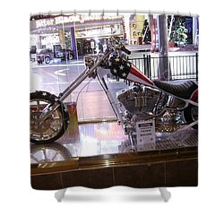 Classic Motorcycle Shower Curtain