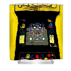 Classic Pacman Shower Curtain