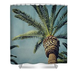 Shower Curtain featuring the photograph Classic Palms2 by Meghan at FireBonnet Art