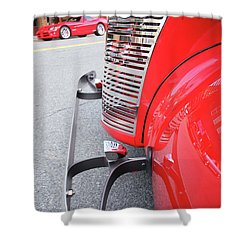 Classic Red Shower Curtain by Karol Livote