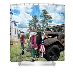 Shower Curtain featuring the photograph Classic Ride by Liane Wright