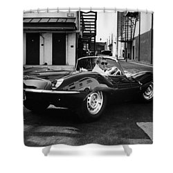 Classic Steve Mcqueen Photo Shower Curtain
