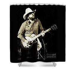 Classic Toy Caldwell Of The Marshall Tucker Band At The Cow Palace-new Years Concert  Shower Curtain