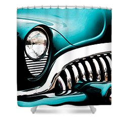 Shower Curtain featuring the photograph Classic Turquoise Buick by Joann Copeland-Paul