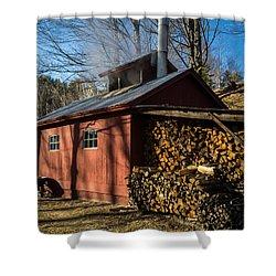 Classic Vermont Maple Sugar Shack Shower Curtain by Edward Fielding