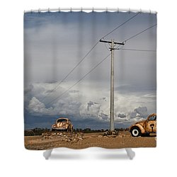 Classic Volkswagen Beetle Shower Curtain by Lana Enderle