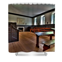 Shower Curtain featuring the photograph Classroom Wren Building by Jerry Gammon