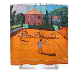 Clay Court Tennis Shower Curtain