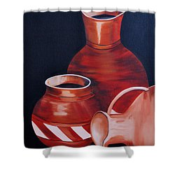 Clay Pots Shower Curtain