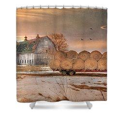 Clayton Sunset Shower Curtain by Lori Deiter