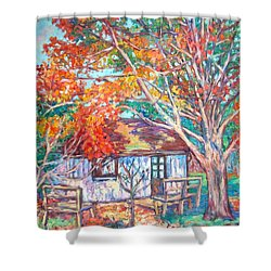 Claytor Lake Cabin In Fall Shower Curtain