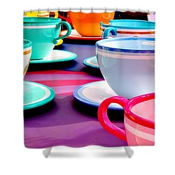Shower Curtain featuring the photograph Clean Cup Clean Cup Move Down by Benjamin Yeager