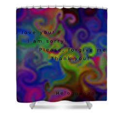 Shower Curtain featuring the digital art Cleansing Prayer by Manuela Constantin