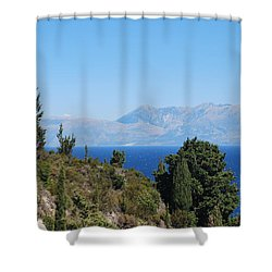 Shower Curtain featuring the photograph Clear Day by George Katechis
