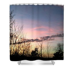 Clear Evening Sky Shower Curtain