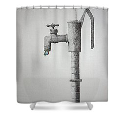 Clear In The Air Shower Curtain by A  Robert Malcom