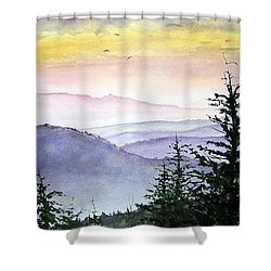 Clear Mountain Morning II Shower Curtain