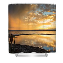 Clearing Rainstorm Shower Curtain