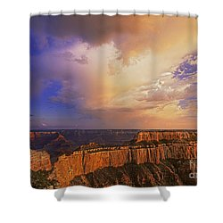 Shower Curtain featuring the photograph Clearing Storm Cape Royal North Rim Grand Canyon Np Arizona by Dave Welling