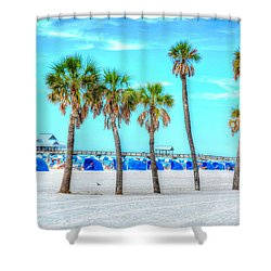 Clearwater Beach Shower Curtain by Debbi Granruth