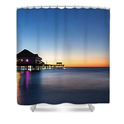 Clearwater Beach Pier Shower Curtain