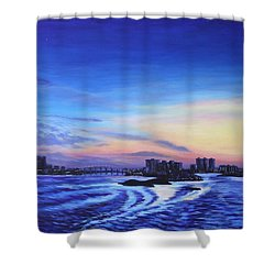 Clearwater Beach Sunset Shower Curtain