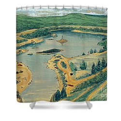 Clearwater Lake Early Days Shower Curtain by Kip DeVore